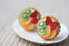 Tropische Früchte - Fruchttorte - M Ohrringe