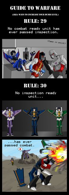 Guide to Warfare Rules 29 and 30