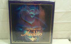 Walt Disney's ALADDIN Laserdisc LD Widescreen CAV Mint