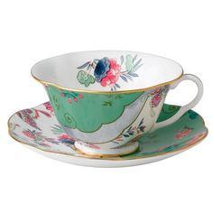 Wedgwood Harlequin Butterfly Bloom Butterfly Posy Cup and Saucer