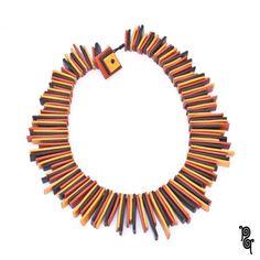 Ruffs – Woman Statement necklace - 100% handmade - choker – a unique product by passaq-style on DaWanda