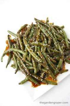 The Garden Grazer: Hoisin Roasted Green Beans