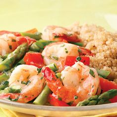 Lemon-Garlic Shrimp and Vegetables #Healthy #Recipes #BetterEats