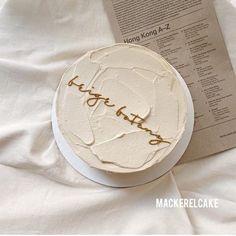 Pretty Birthday Cakes, Pretty Cakes, Beautiful Cakes, Cake Birthday, Happy Birthday, Mini Cakes, Cupcake Cakes, Simple Cake Designs, Korean Cake