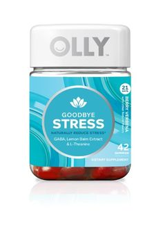 Olly Goodbye Stress Gummies, Berry Verbena, 42 Ct | Jet.com