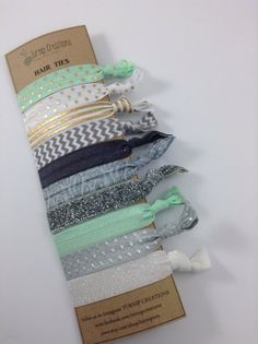 These fabulous hair ties are great to keep up with your Fabulous Style!    These FOE Hair Ties are perfect hair accessories for pulling back your hair