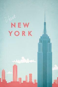 Travel poster - Henry Rivers - New York