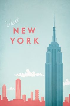 Travel poster - Henry Rivers - New York