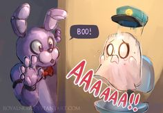FNAF and UNDERTALE! Bonnie and Napstablook