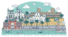 Branding and website for a tourist service for the city of Bari, Apulia, Italy Italy Illustration, Bari, Taj Mahal, Behance, Branding, City, Travel, Packaging, Drawings