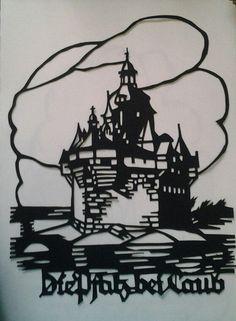 German castle papercut