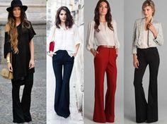 modelos de conjuntos social feminino com calca e camisa