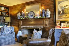 Love this Den - Mayme Baker Studio - Interior Design in Greenville, SC