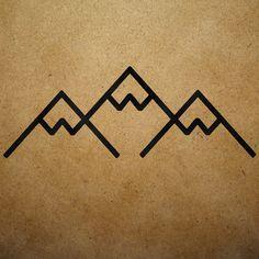 minimalist mountain tattoo - Google Search