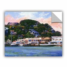 Breakwater Bay 'Tiburon California Waterfront' is a beautiful reproduction featuring a small fishing village with gorgeous blue and white building overlooking the sea. A wonderful piece that will compliment any home or office. Size: H x W x D Tiburon California, Santa Monica Ca, Painting Prints, Canvas Prints, White Building, Fishing Villages, Cool Walls, Canvas Size, Wall Decals