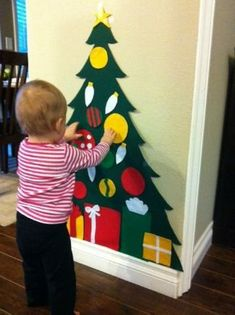 How to Make a Felt Christmas Tree for Kids to Decorate