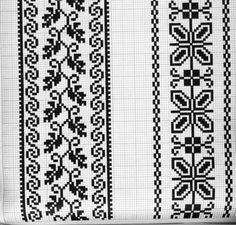 + ze dwie puste z wypustkami - ząbki - Knitting Charts, Knitting Stitches, Knitting Patterns, Embroidery Patterns, Stitch Patterns, Crochet Basket Pattern, Abstract Line Art, Fair Isle Pattern, Cross Stitch Borders