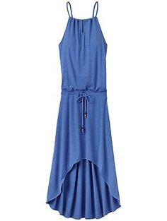 Malti Maxi Dress - The gorgeous, blousy dress that shows its confidence with a peek of skin at the neck and a leg-baring high-low hem.