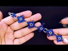 How to make beaded Bracelet 💞 - Armband Ideen Beaded Bracelets Tutorial, Beaded Bracelet Patterns, Beaded Earrings, Necklace Tutorial, Diy Bracelets How To Make, Making Bracelets With Beads, Diy Jewelry, Jewelry Bracelets, Jewelry Making