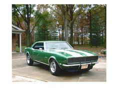 Pictures and posters of classic cars, muscle cars sports cars, race cars and old cars. 1968 Chevy Camaro, Camaro Rs, Green Camaro, My Dream Car, Dream Cars, Pony Car, Sweet Cars, American Muscle Cars, Hot Cars