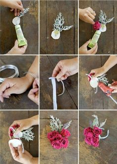 New Ideas for diy wedding flowers boutonniere wrist corsage Bridal Musings, Prom Flowers, Wedding Flowers, Homecoming Flowers, Diy Flowers, How To Make Corsages, Flower Corsage, Wrist Corsage Diy, Diy Corsages