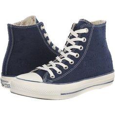 Converse Chuck Taylor All Star Sparkle Lurex Hi (Navy) Women's  Shoes