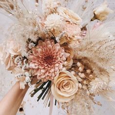 Beautiful bouquet of flowers delicate and in light colors morning .- Beautiful bouquet of flowers delicate and in light colors Morgane Illes - Beautiful Bouquet Of Flowers, Blush Wedding Flowers, Bridal Flowers, Floral Wedding, Wedding Colors, Bouquet Flowers, Purple Wedding, Summer Wedding, Casual Wedding