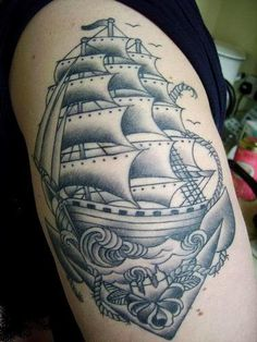 Cool Ship Tattoo