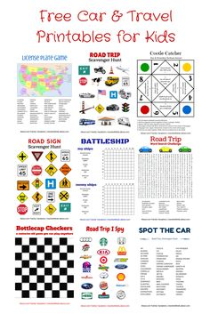 Free Car & Travel Printables: Hangman Tic Tac Toe Battleship License Plate Game Road Trip I Spy Scavenger Hunts Cootie Catcher and Road Trip With Kids, Family Road Trips, Travel With Kids, Family Travel, Family Camping, Family Cars, Group Camping, Camping Style, Kids Travel Activities