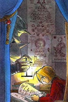 Alphonse and Edward Elric _Fullmetal Alchemist Brotherhood 鋼の錬金術師 Fullmetal Alchemist, Fulmetal Alchemist, Edward Elric, Anime Manga, Anime Art, Elric Brothers, Hiromu Arakawa, Alphonse Elric, Animes On
