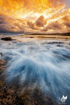 Soldiers' Beach at sunrise, Australia by Andy Eftichiou