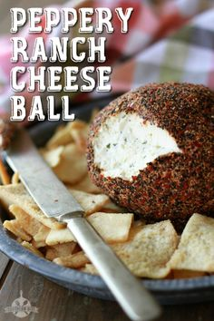 Peppery Ranch Cheese Ball - Only 3 ingredients!