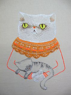 Squish-Faced Cat Embroidery by catrabbitplush in... |