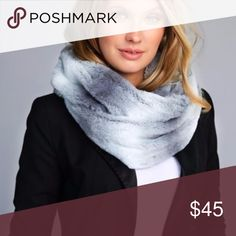 Grey Ombre Infinity Faux Fur Scarf LUXURIOUSLY BEAUTIFUL OMBRE FAUX FUR INFINITY SCARF  100% POLYESTER Category: Infinity Scarves Grey Accessories Scarves & Wraps