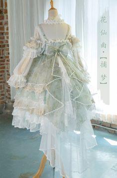 Bramble Rose -The Fairy Princess- Vintage Classic Lolita Jumper Dress,Lolita Dresses, Style Grunge, Grunge Look, Soft Grunge, 90s Grunge, Estilo Lolita, Pretty Outfits, Pretty Dresses, Beautiful Dresses, Kawaii Dress