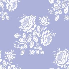 """Kristianstad Rose"" in blue-violet by LilyOake on Spoonflower - custom fabrics, wallpapers and gift wrap"
