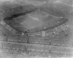 An aerial picture of Manchester City's famous old Maine Road home, for a visit of Sheffiel...
