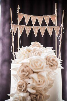 just married banner cake topper | Femina Photo + Design | Glamour & Grace