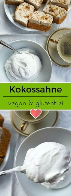 Fluffig, luftig und einfach lecker. Kokossahne ist schnell gemacht Entdeckt von Vegalife Rocks: www.vegaliferocks.de✨ I Fleischlos glücklich, fit & Gesund✨ I Follow me for more inspiration @vegaliferocks