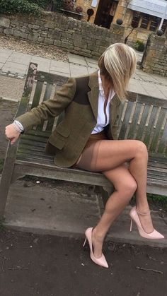 Upskirt mature with nice ass
