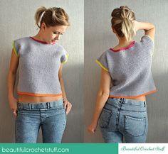 Crochet Crop Top Free Pattern ༺✿Teresa Restegui http://www.pinterest.com/teretegui/✿༻