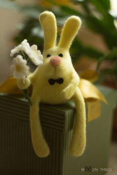 Лимонный кролик. Handmade.