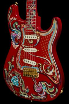Pensa Custom MK80, hand-painted by Maria Pensa under the Argentinean Tango / firuletes style