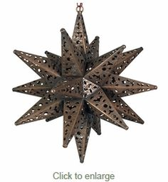 Large Ornate Tin Star Fixture