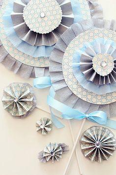 paper lollipop rosettes