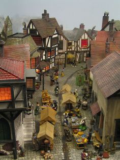 Miniature village. It was my dream to have one of these when I was younger. Because I still love miniatures, it sort of still is :)