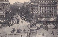 Vue aérienne de la place de Clichy, vers 1900. Paris France, Paris 1900, Tour Eiffel, Old Photos, Vintage Photos, Paris Vintage, Interesting Buildings, First Art, Paris Photos