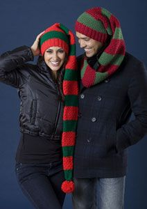 scarf hat duo- AKA elf hat- free pattern- SO WANT THIS!!!!!!!!!!!!!!!!!!!!!!!!!