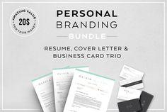Resume Bundle-Personal branding by Profilia Resume Boutique on @creativemarket
