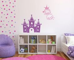 What a cute way to decorate a little girls room!